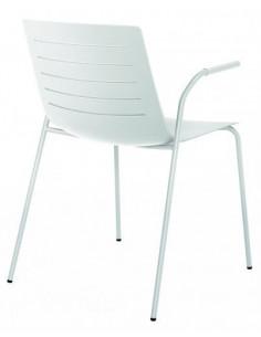 Sedia in PELLE a 4 piedi impilabile sho1032067