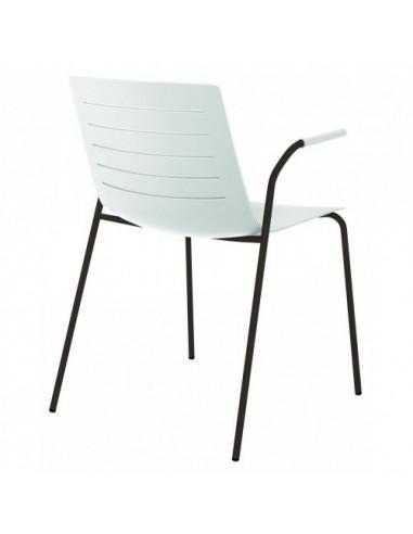 Cadira de PELL de 4 peus apilable sho1032067