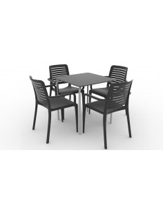 Collezione sedia PARK e tavolo GRODAS compacta kho1104005