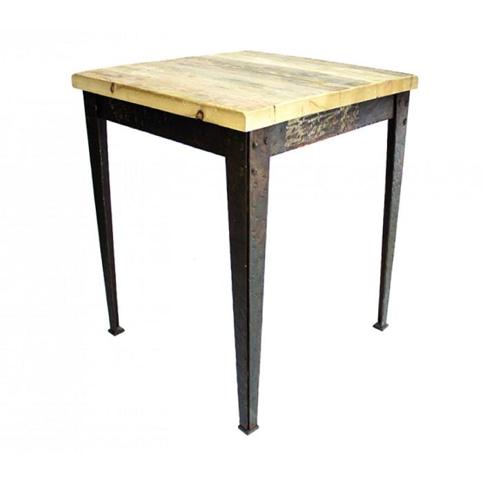 Mesa vintage de madera maciza me01 mho1022001 mobiliario for Mesa 70x70 madera