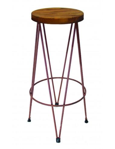Tabouret en bois Vintage DAKOTA sta1022001