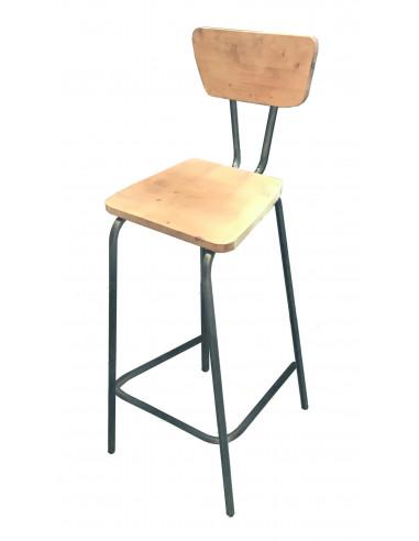 Tamborete vintage de madeira BOSTON sta10220002