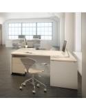 Ala para mesa de oficina pie panel en diferentes acabados QUO mop1101005