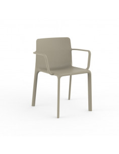 Blanco silla con apoyabrazos KES de VONDOM sho1092023