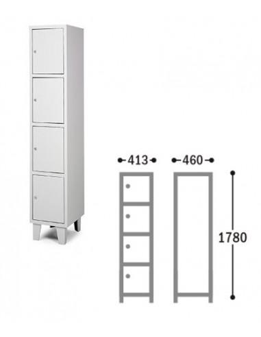 Armadietto in metallo in varie misure disponibili bes0137002