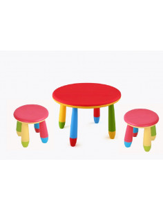 mesa infantil redonda cpu2005002 com bancos