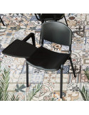 Sedia impilabile in struttura in metallo con sedile in plastica sop72017