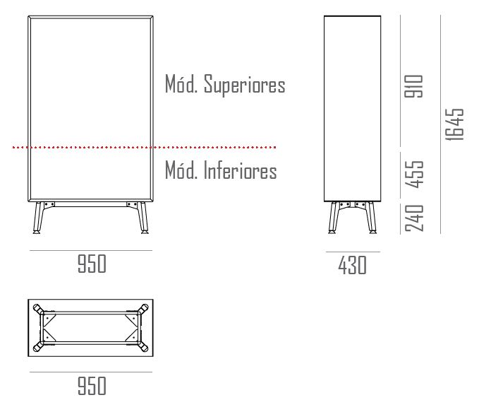 mesure armoire bureau IMAN ORIGIN