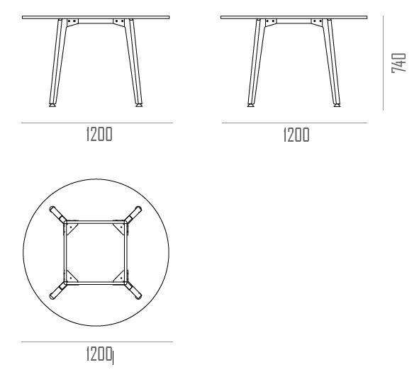 ORIGIN IMAN circular meeting table for desktop